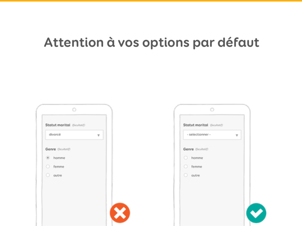 Attention à vos options par défaut