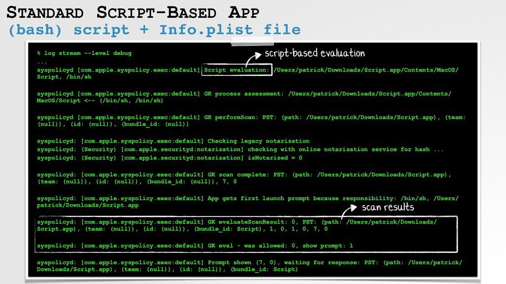 STANDARD SCRIPT-BASED APP (bash) script + Info....