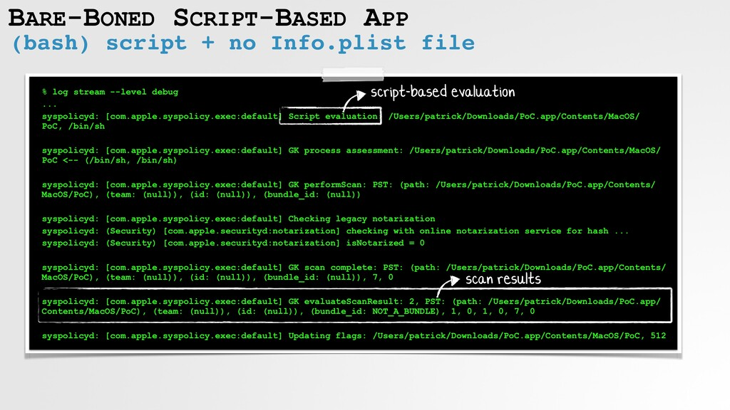 BARE-BONED SCRIPT-BASED APP (bash) script + no ...