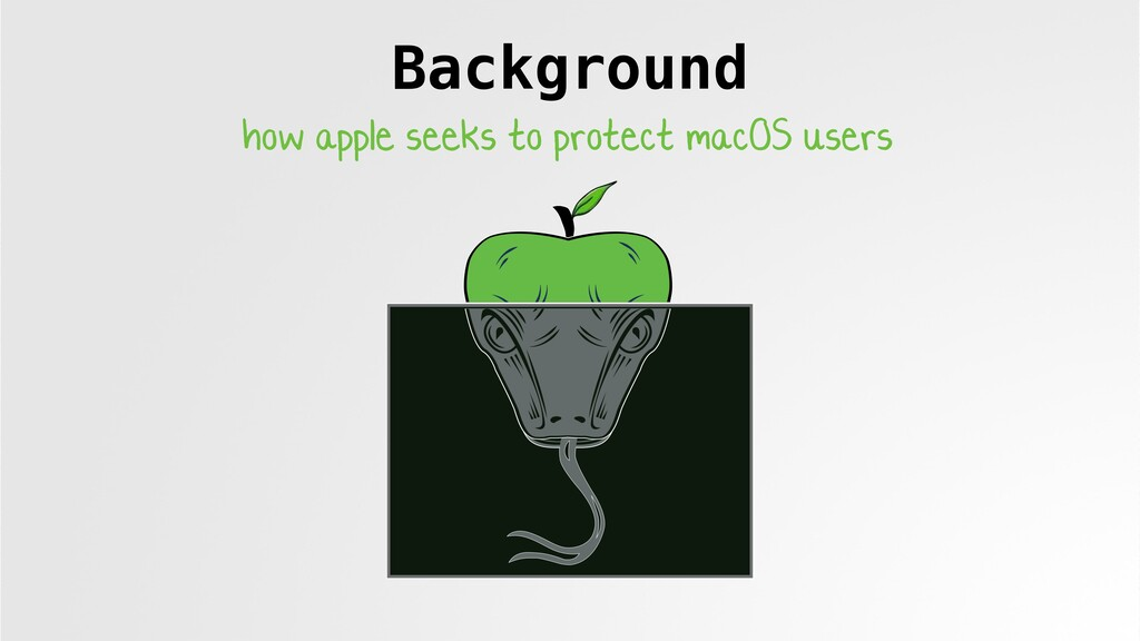 Background how apple seeks to protect macOS use...
