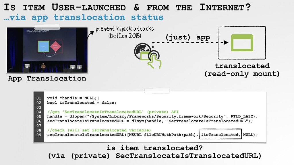 IS ITEM USER-LAUNCHED & FROM THE INTERNET? …via...