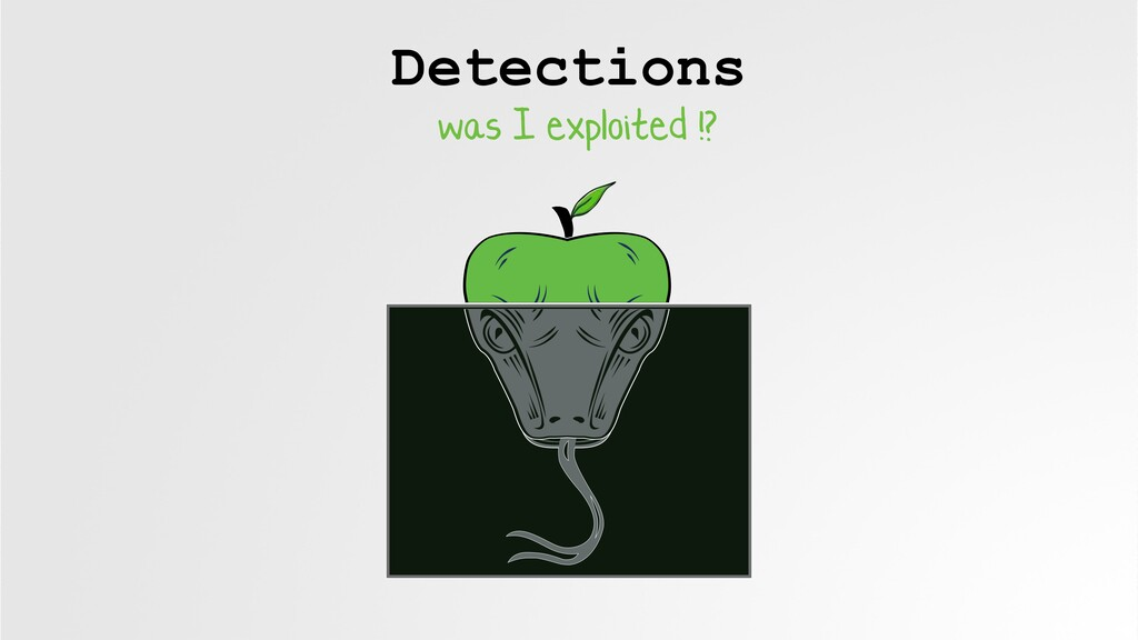 Detections was I exploited !?