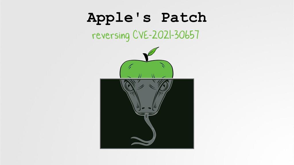 Apple's Patch reversing CVE-2021-30657