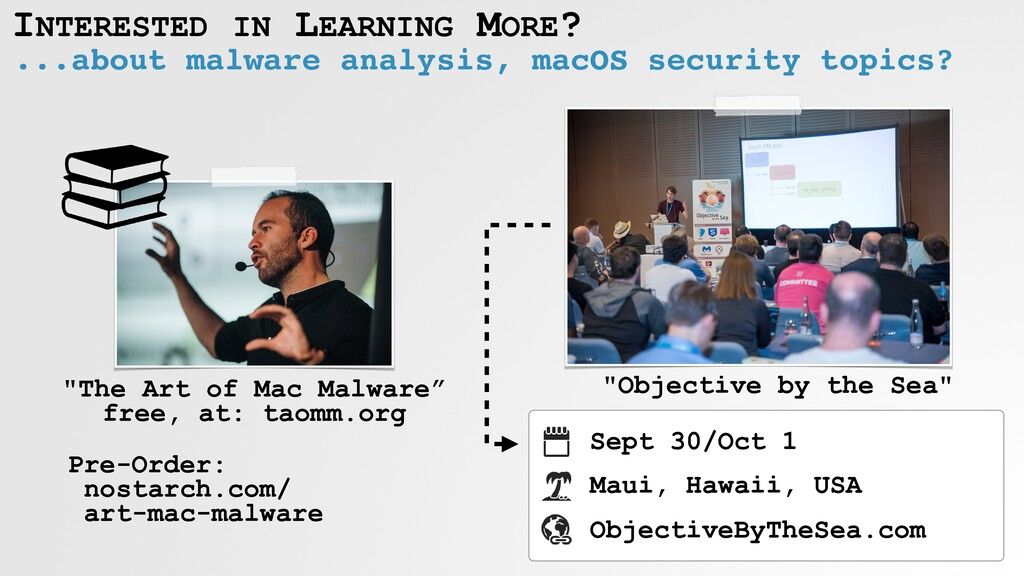 INTERESTED IN LEARNING MORE? ...about malware a...