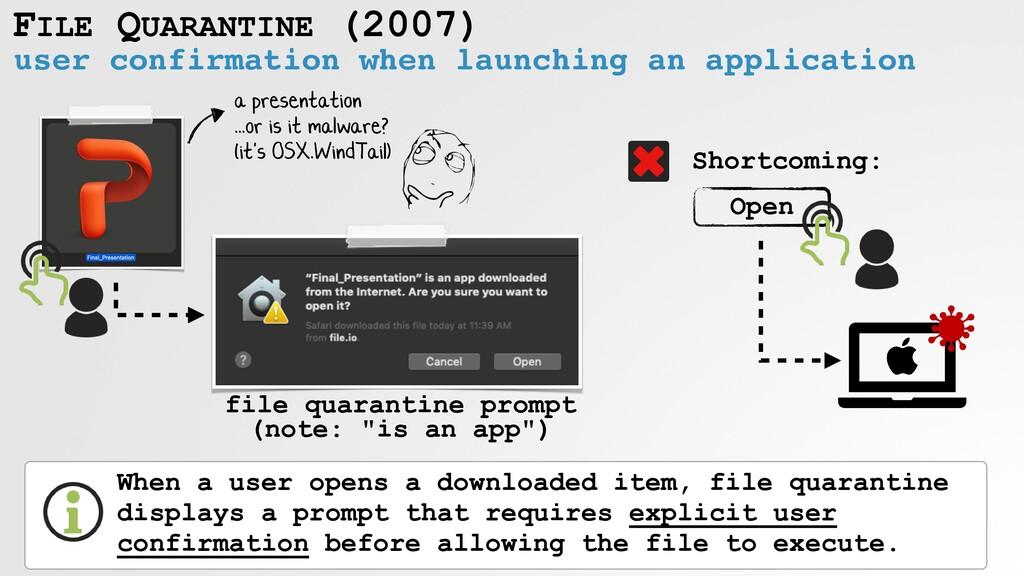 FILE QUARANTINE (2007) user confirmation when l...