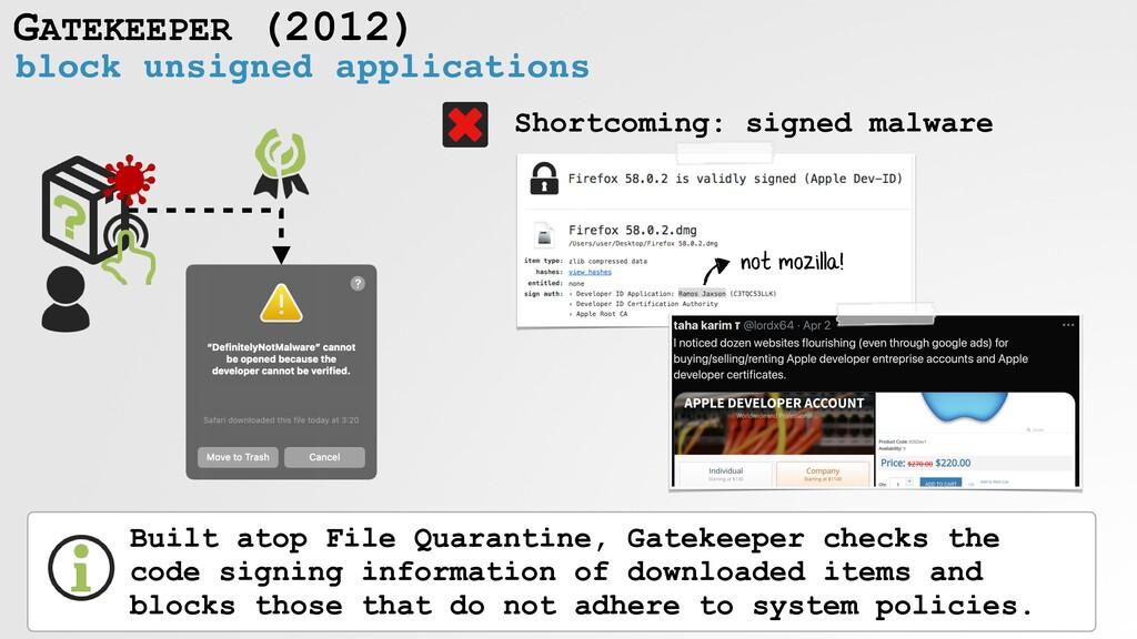 GATEKEEPER (2012) block unsigned applications B...