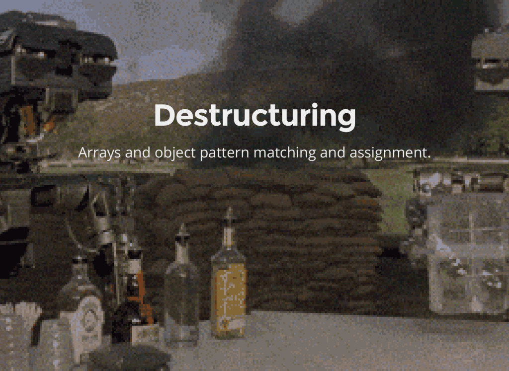 Destructuring Arrays and object pattern matchin...