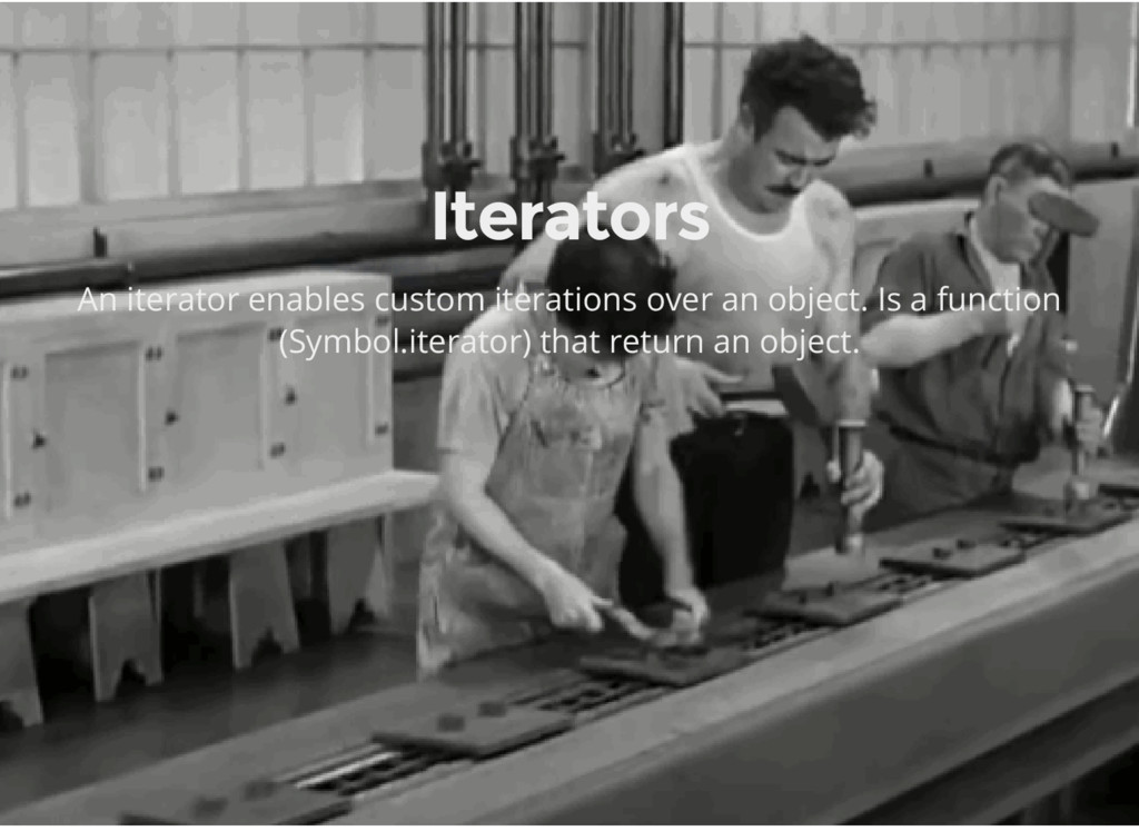 Iterators An iterator enables custom iterations...