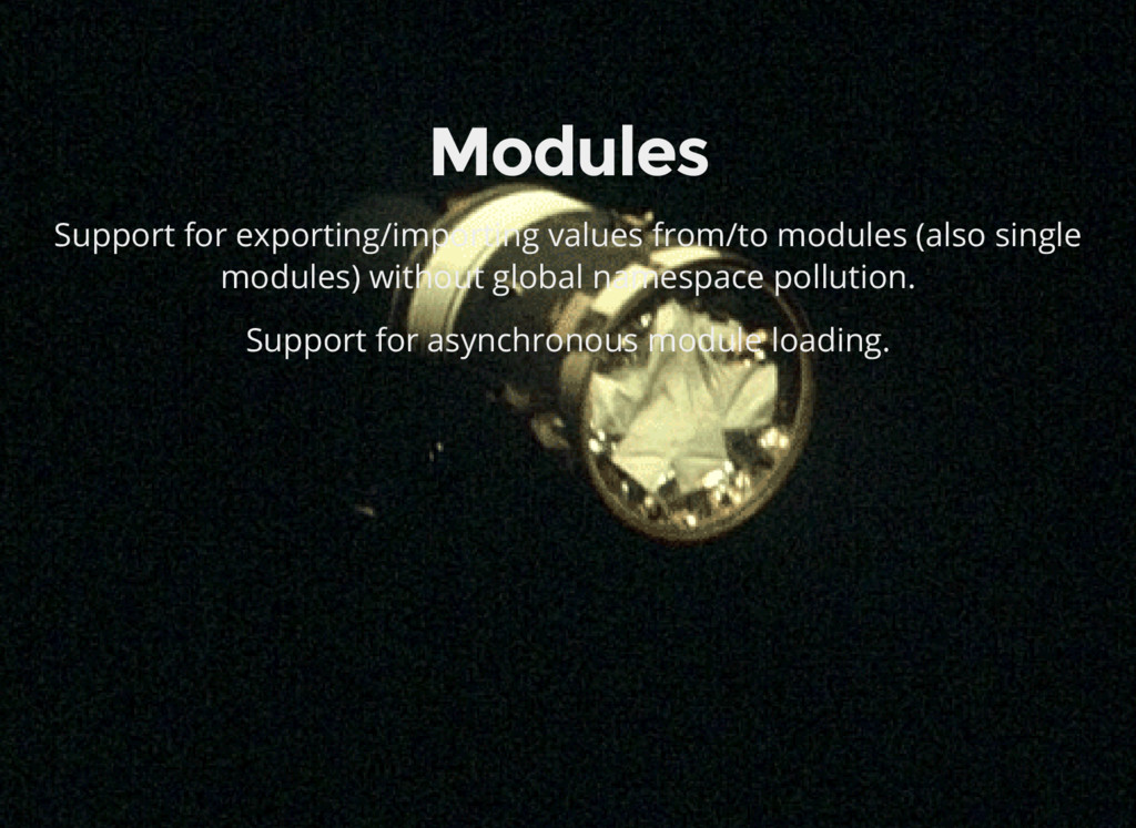 Modules Support for exporting/importing values ...