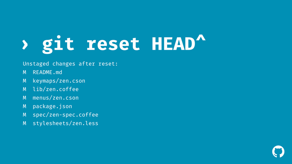 ! git reset HEAD^ › Unstaged changes after rese...
