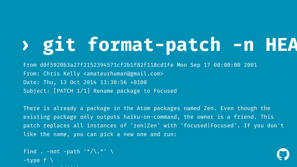 ! git format-patch -n HEA › From d0f5920b3a27f2...