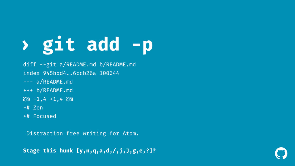 ! git add -p › diff --git a/README.md b/README....