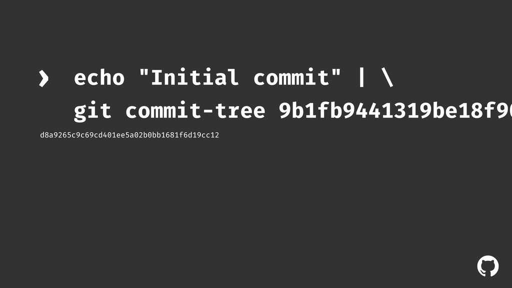 "! echo ""Initial commit"" 