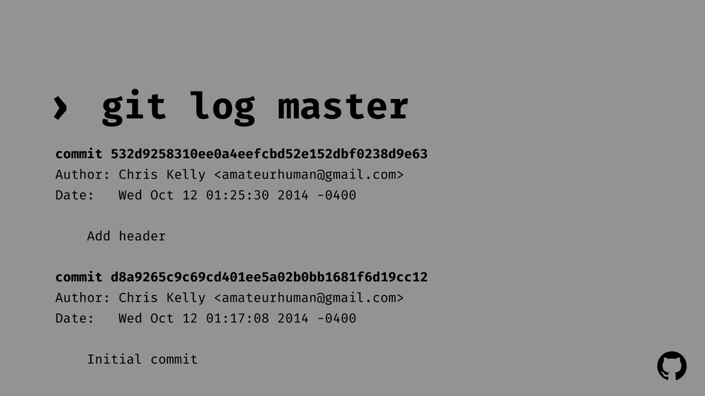 ! ! git log master › commit 532d9258310ee0a4eef...