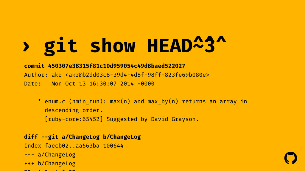 ! ! git show › HEAD~3 commit 450307e38315f81c10...