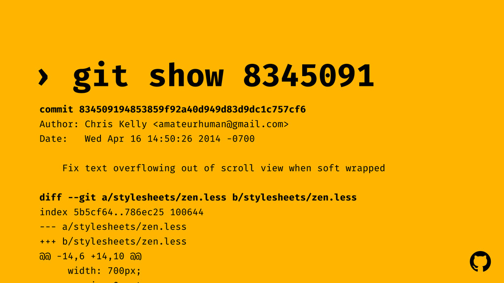 ! ! git show 8345091 › commit 834509194853859f9...