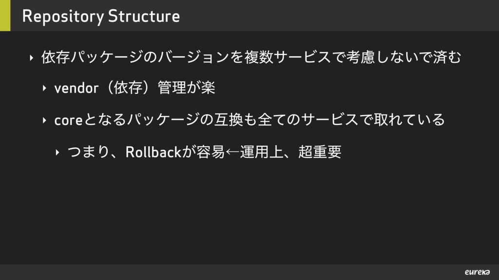 Repository Structure ‣ ґଘύοέʔδͷόʔδϣϯΛෳαʔϏεͰߟྀ͠...