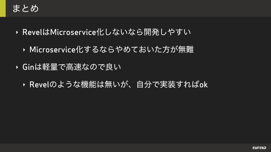 ·ͱΊ ‣ RevelMicroserviceԽ͠ͳ͍ͳΒ։ൃ͍͢͠ ‣ Microser...