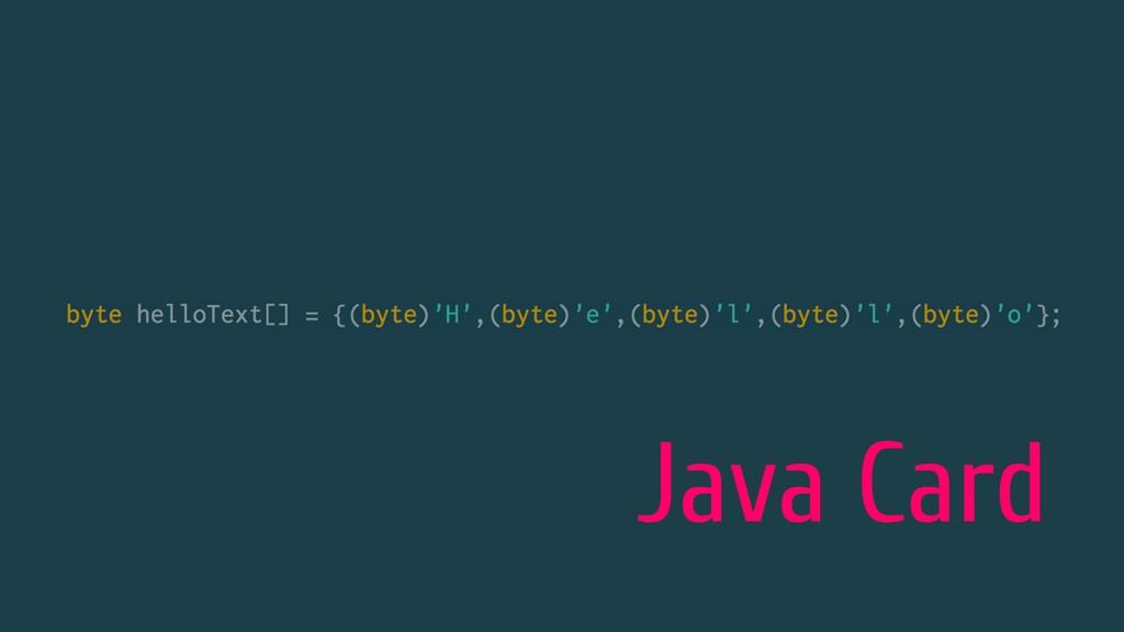 Java Card
