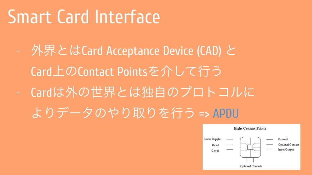Smart Card Interface - ֎քͱCard Acceptance Devi...