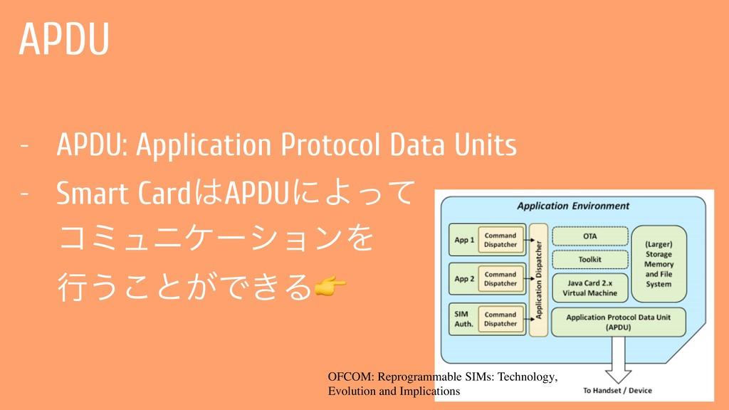 APDU - APDU: Application Protocol Data Units - ...