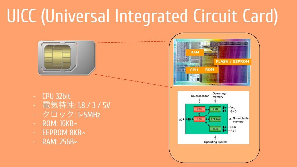 UICC (Universal Integrated Circuit Card) - CPU ...