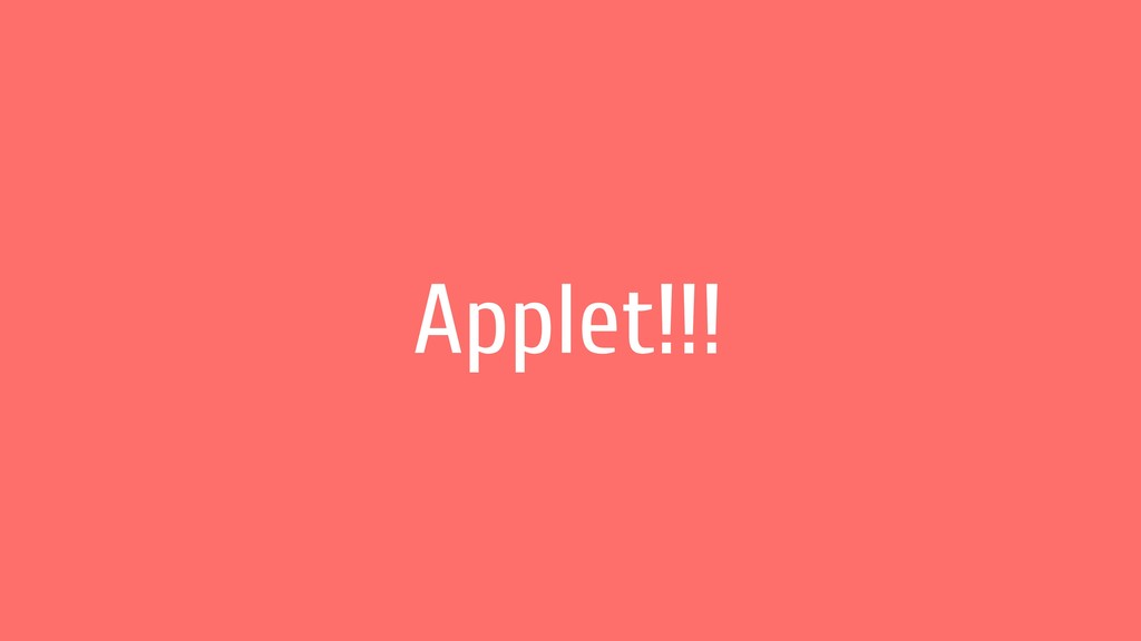 Applet!!!