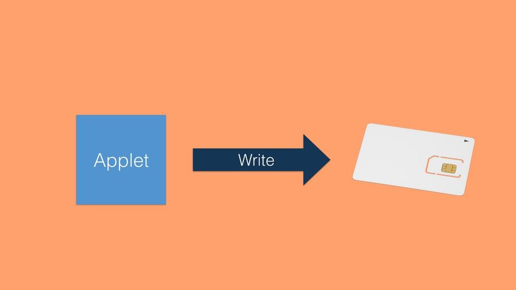 Applet Write