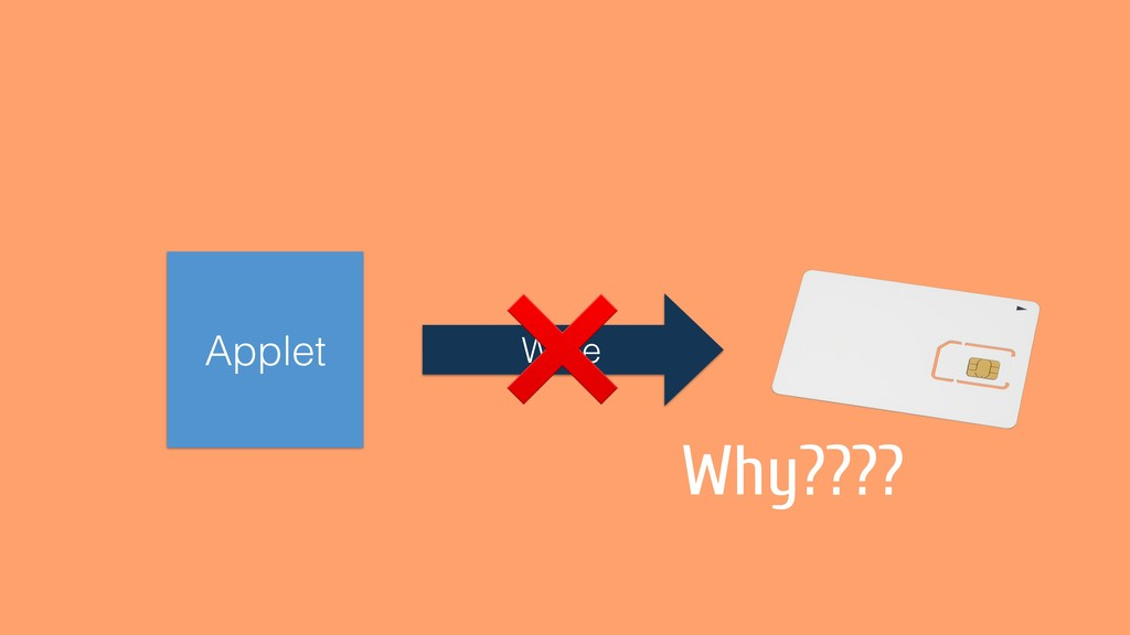 Applet Write ❌ Why????