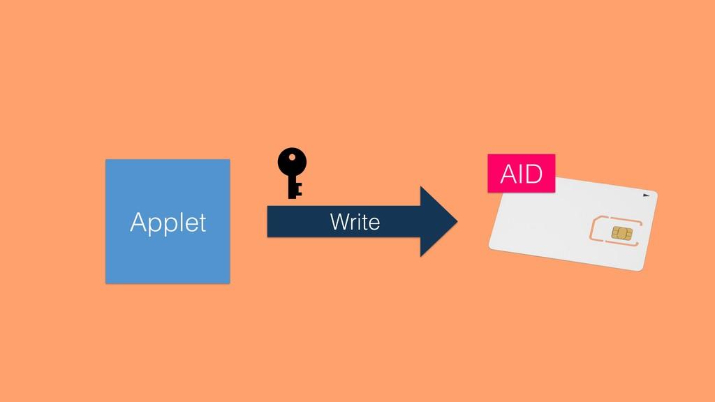 Applet Write AID