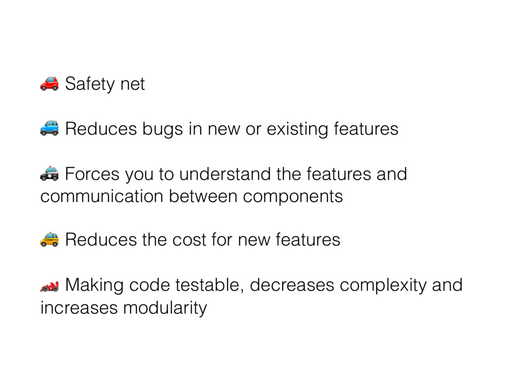 "! Safety net "" Reduces bugs in new or existing ..."