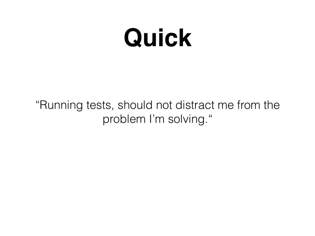 """Running tests, should not distract me from the..."