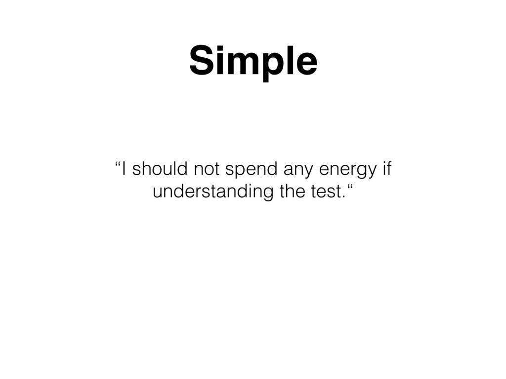 """I should not spend any energy if understanding..."