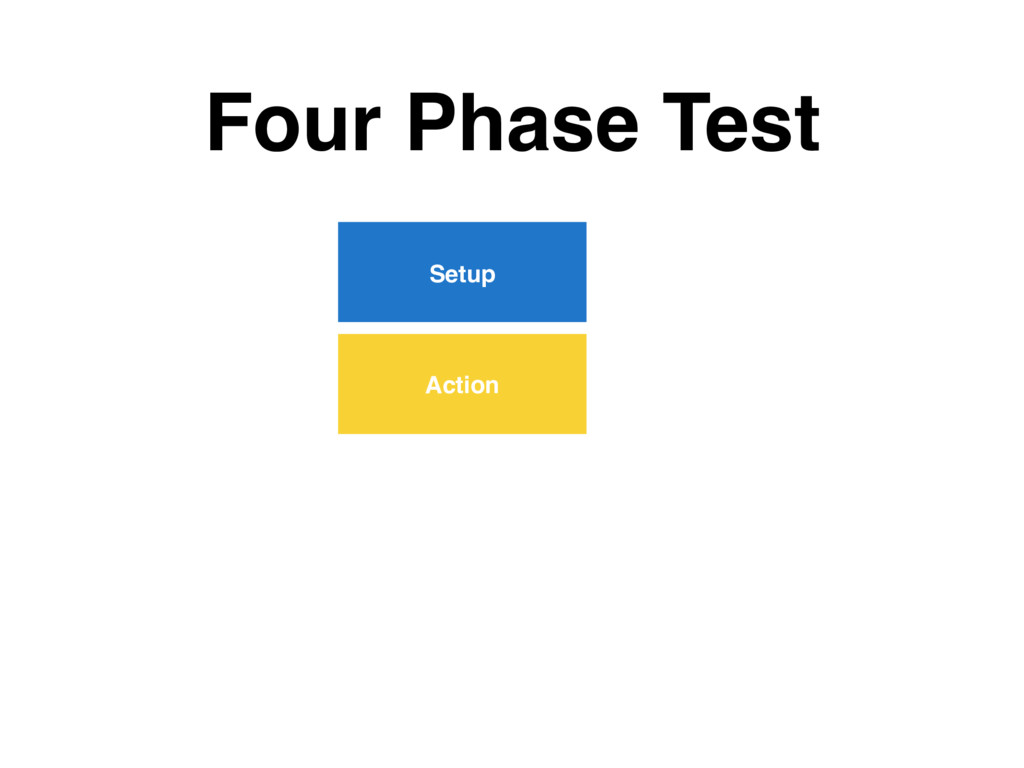 Four Phase Test Setup Action
