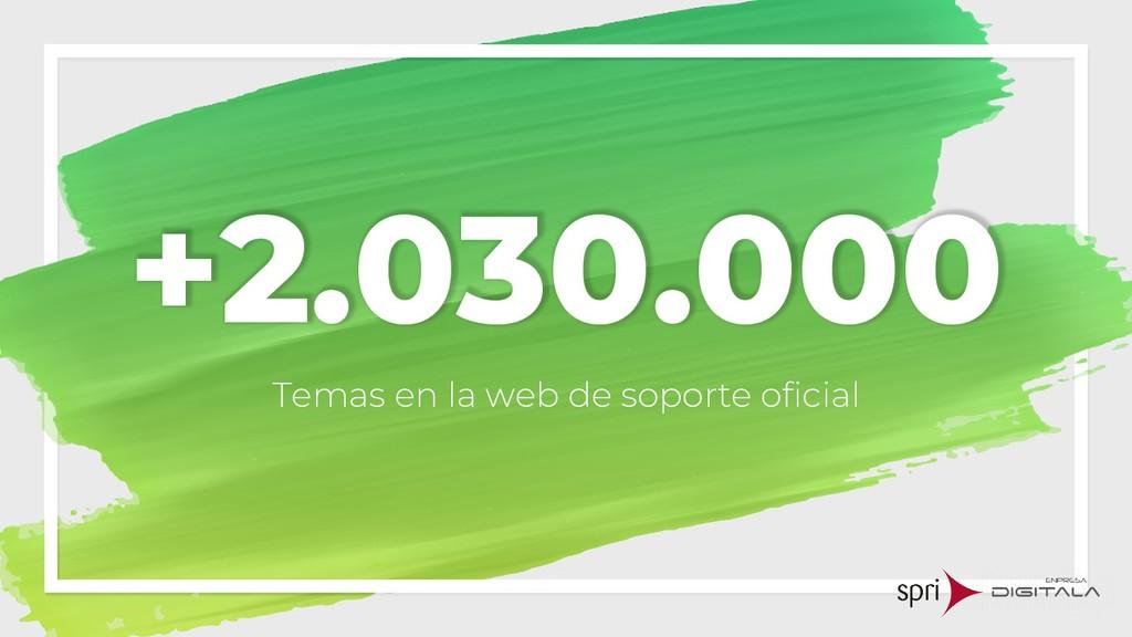 +2.030.000 Temas en la web de soporte oficial