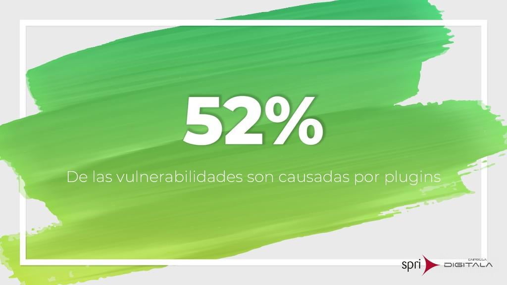52% De las vulnerabilidades son causadas por pl...
