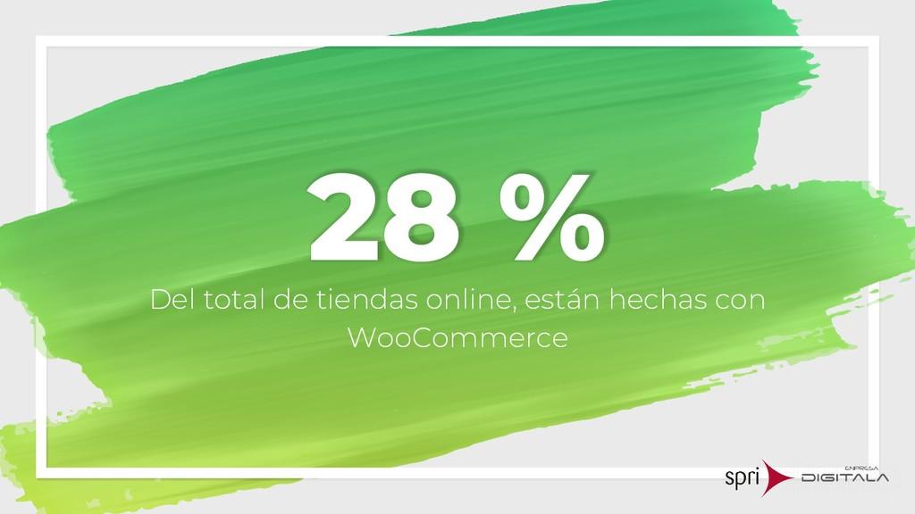 28 % Del total de tiendas online, están hechas ...