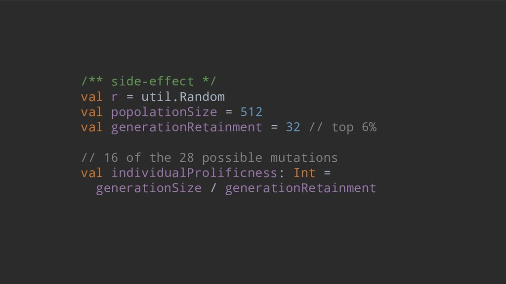 /** side-effect */ val r = util.Random val popo...