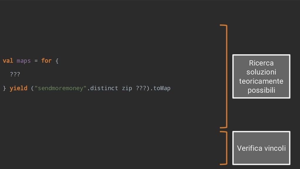 "val maps = for { ??? } yield (""sendmoremoney"".d..."