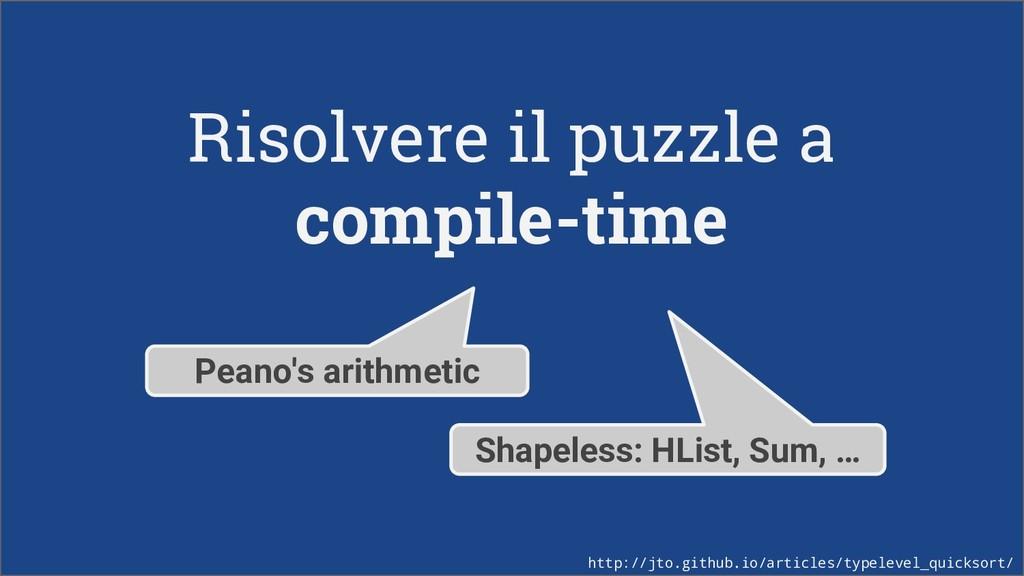 Risolvere il puzzle a compile-time Peano's arit...