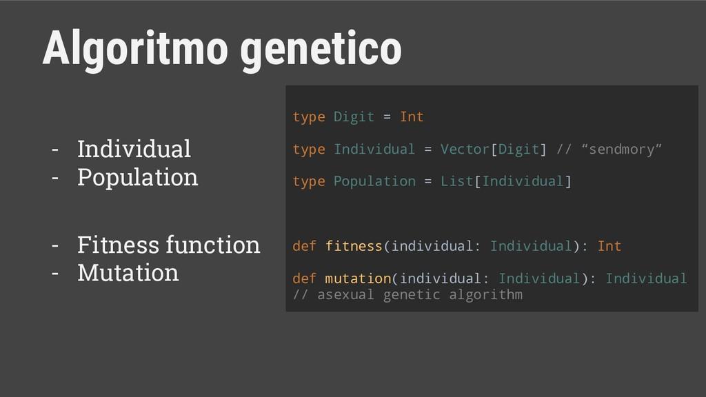 Algoritmo genetico - Individual - Population - ...