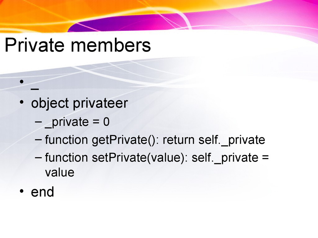 Private members • _ • object privateer – _priva...