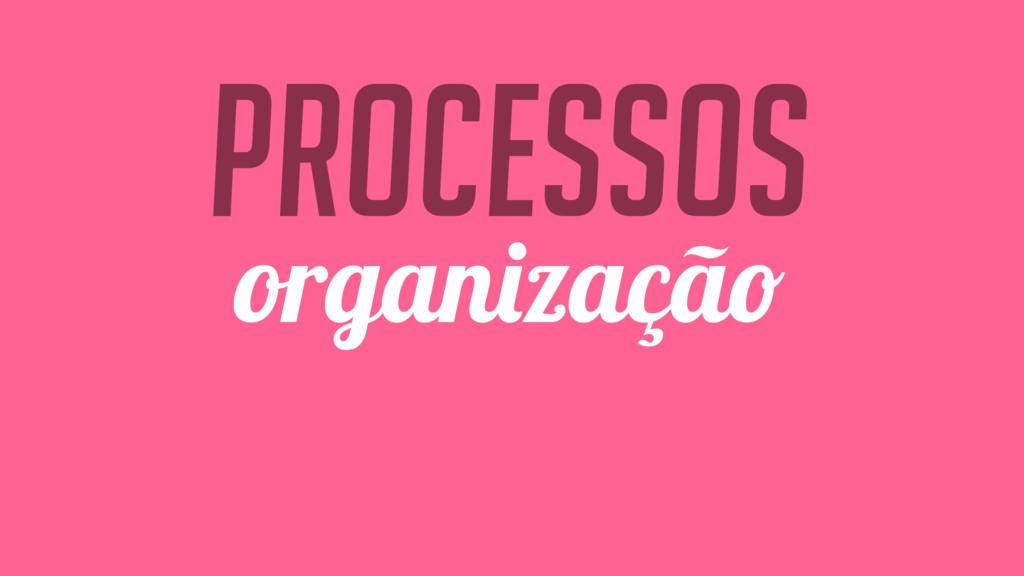 Processos organização