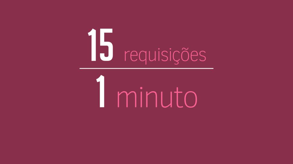 15 requisições 1 minuto