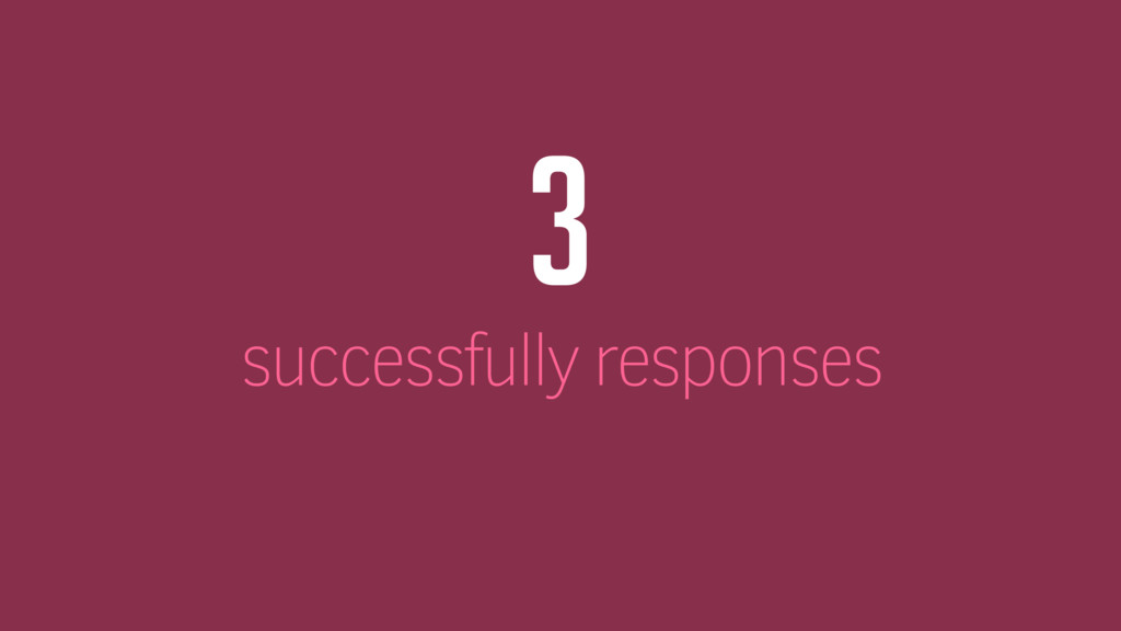3 successfully responses
