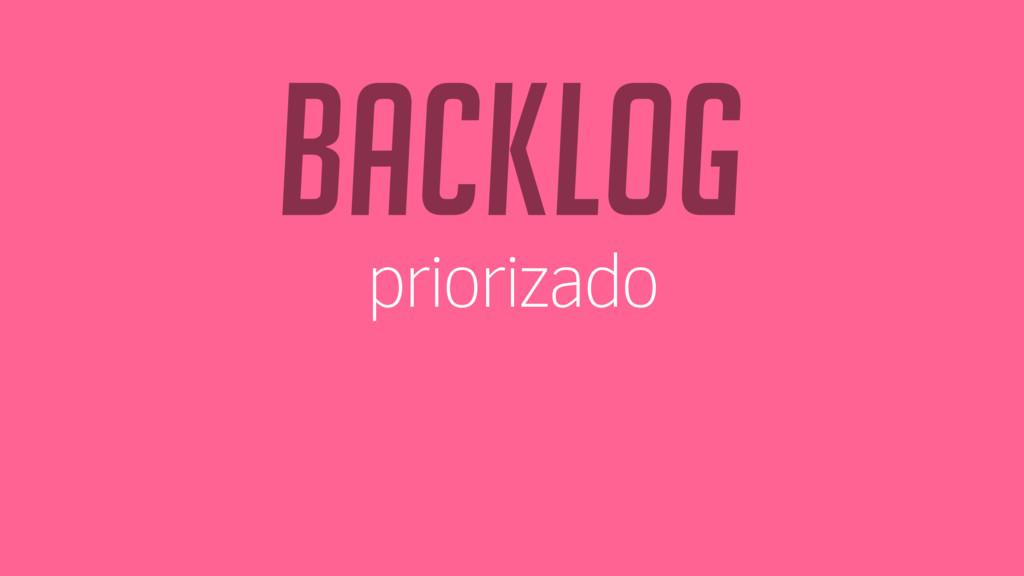 backlog priorizado
