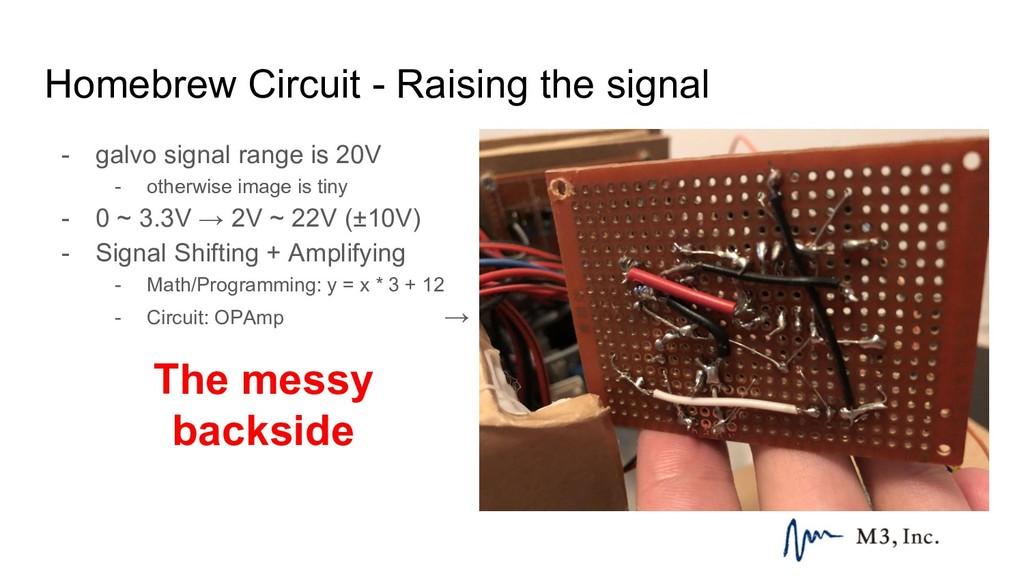 Homebrew Circuit - Raising the signal - galvo s...