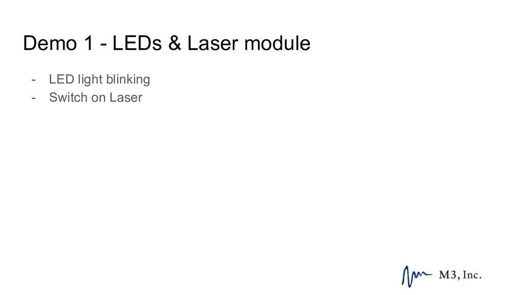 Demo 1 - LEDs & Laser module - LED light blinki...