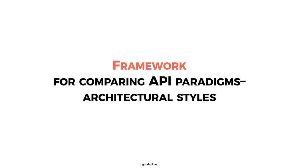 goodapi.co FRAMEWORK FOR COMPARING API PARADIGM...