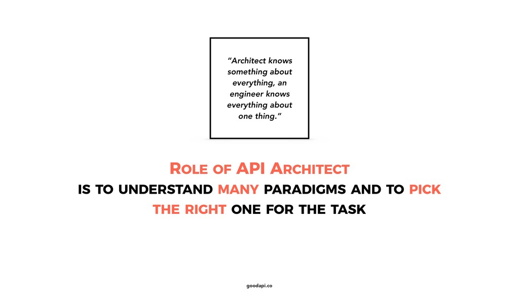 goodapi.co ROLE OF API ARCHITECT IS TO UNDERSTA...